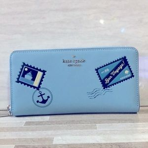 Kate Spade Off the Grid Fresh Water Blue Wallet